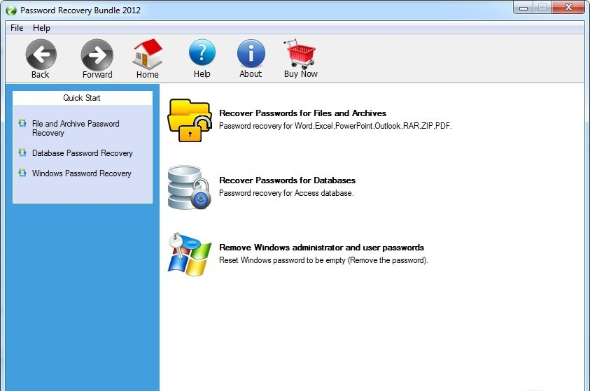 Password Recovery Bundle 2012 Personal Edition hyperterminal
