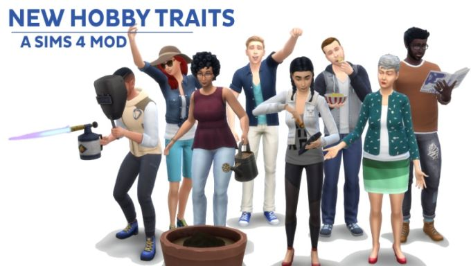 New Hobby Traits mod for The Sims 4