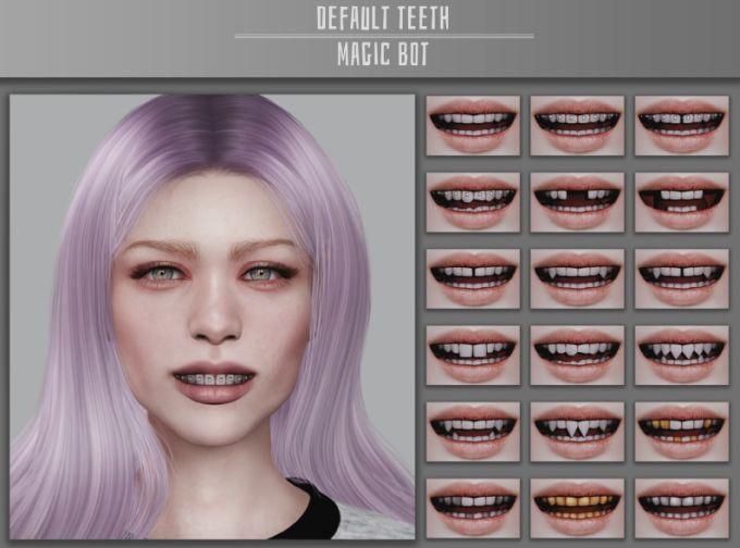 Default Teeth mod for The Sims 4