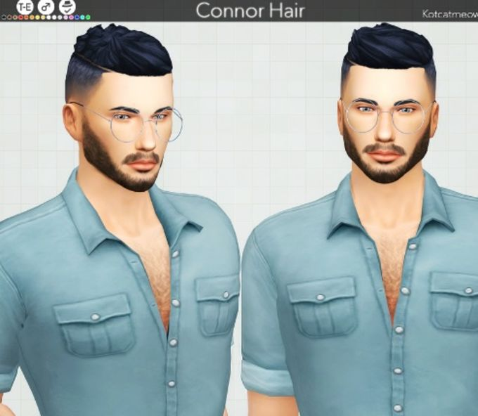 Connor Hair mod for The Sims 4