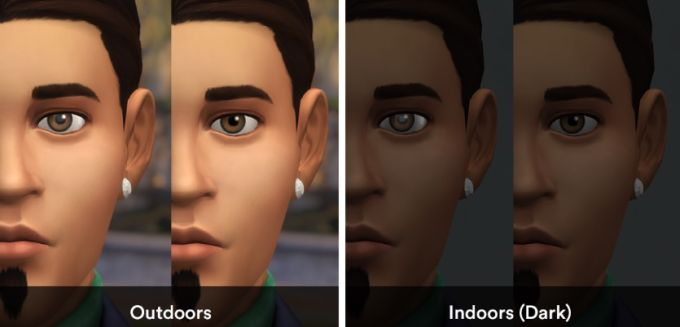 Eye Shine Remover mod for The Sims 4