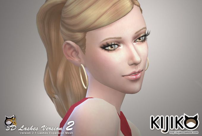 3D Lashes version 2 mod for The Sims 4